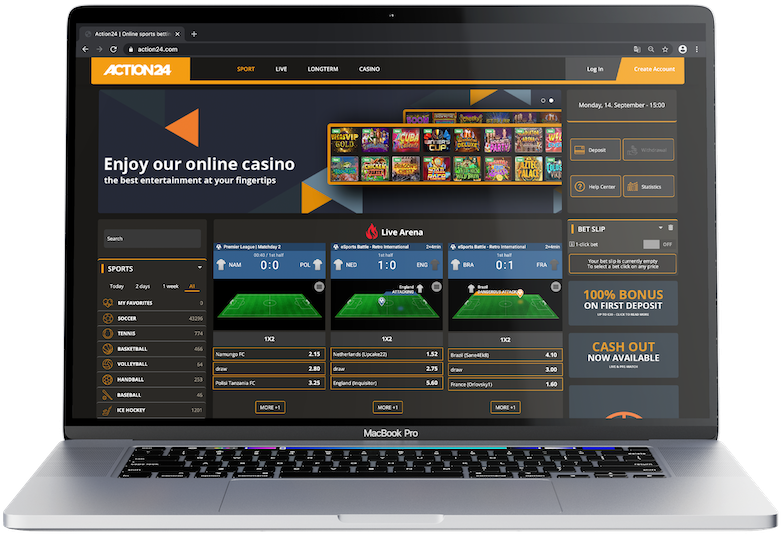iGaming frontend online desktop