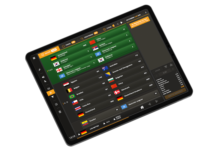 iGaming frontend webterminal